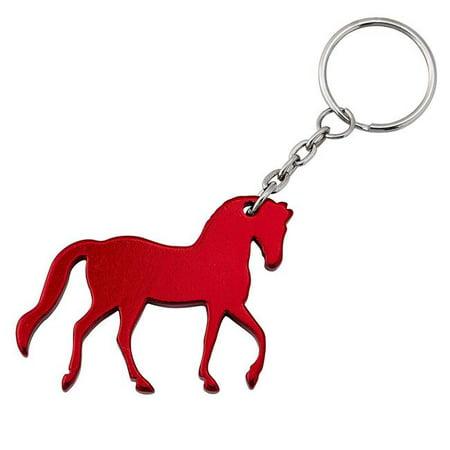 Equi-Ternatives 9350008286 Prancing Horse Key Chain, Silver ()