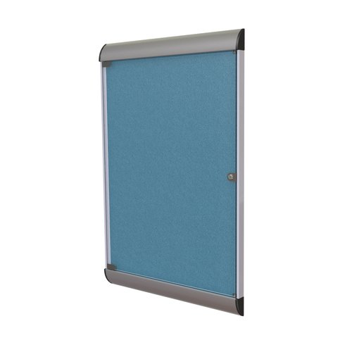 Ghent Silhouette 1 Door Enclosed Fabric Bulletin Board