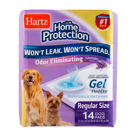 Hartz Home Protection Odor-Eliminating Dog Pads, 21 in x 21