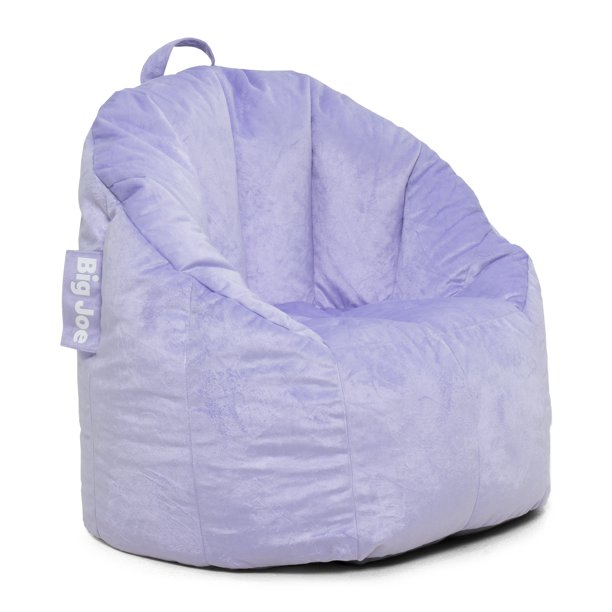 "Big Joe Joey Bean Bag Chair, Lilac - 28.5"" x 24.5"" x 26.5"""