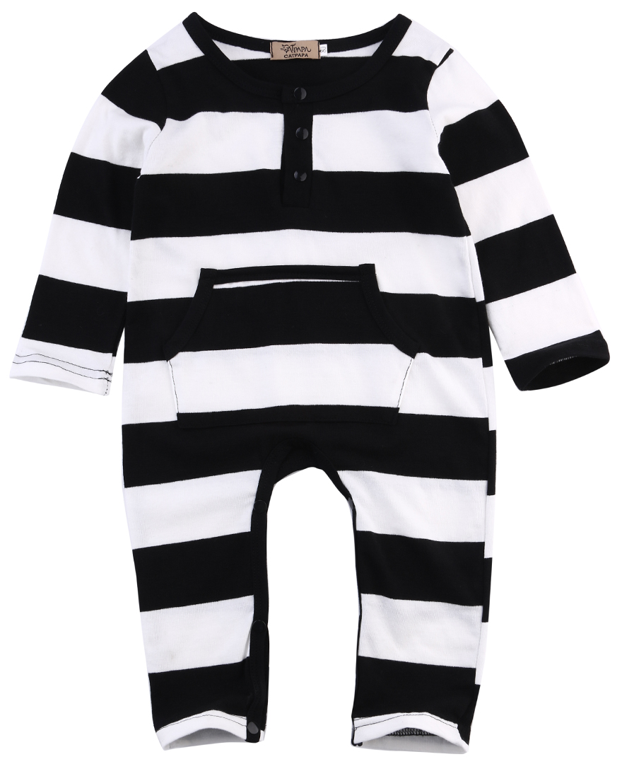 5d27742f5d28 Gaono - Infant Baby Boy One Piece Long Sleeve Striped Romper ...