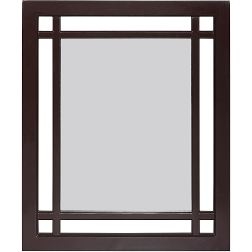 Elegant Home Fashions Heritage Mirror, Dark Espresso