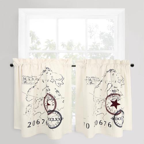 Park B Smith Ltd Vintage House World Cafe Curtain Panel