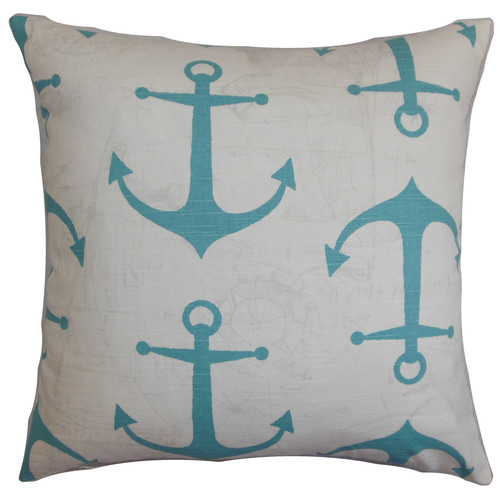 The Pillow Collection Enye Cotton Throw Pillow