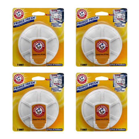(4 Pack) Arm & Hammer Fridge Fresh Air Filter Baking