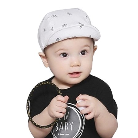 Baby Boy Girls Cotton Sun Hats Kids Shawl Bucket Earflap Visor Cap 3M-24M