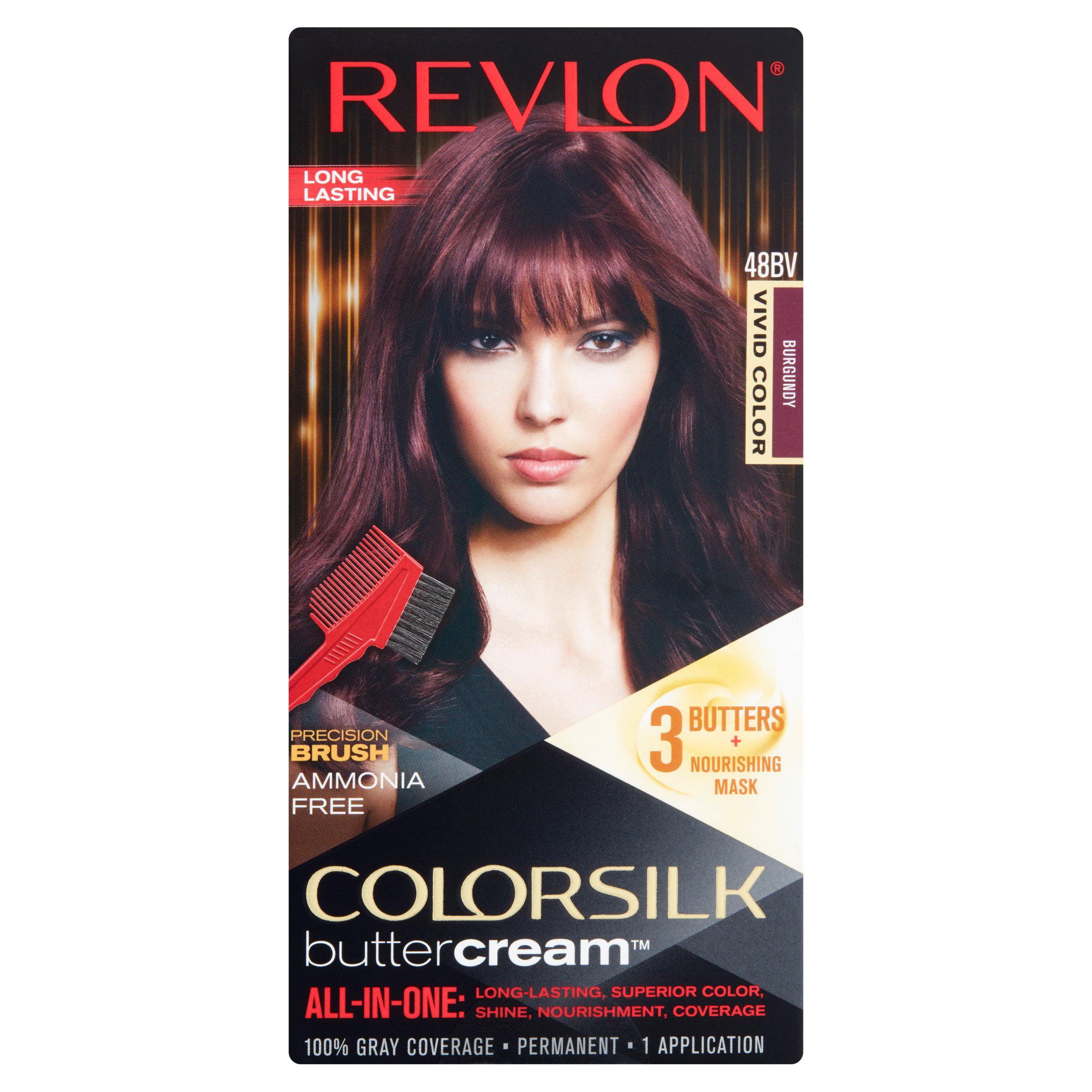 Colorsilk beautiful color 55 light reddish brown by revlon hair color - Revlon Colorsilk Buttercream 48bv Burgundy Permanent Hair Color 1 Application Walmart Com