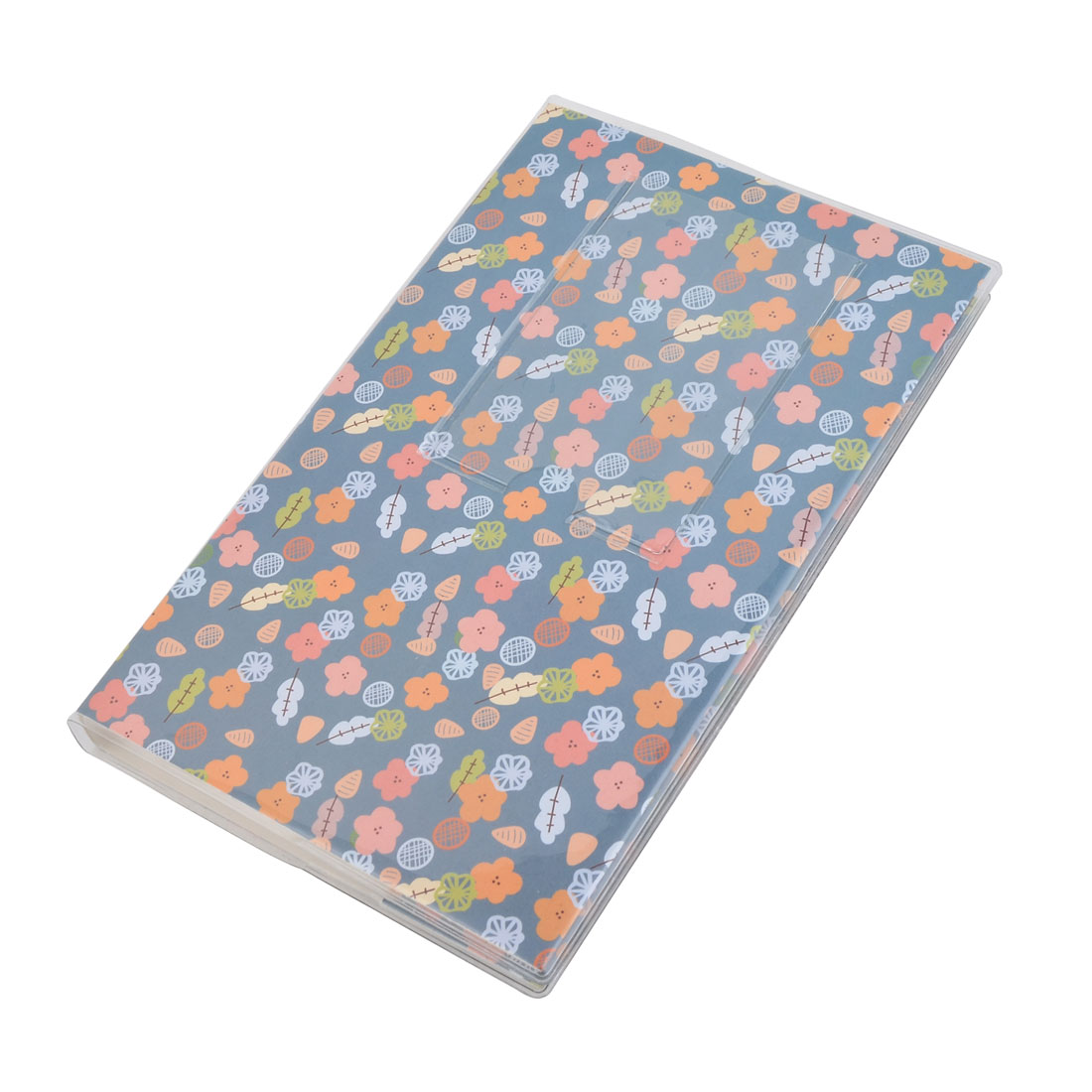 Household Birthday Plastic Floral Print Photo Picture Memo Stamp Holder Album