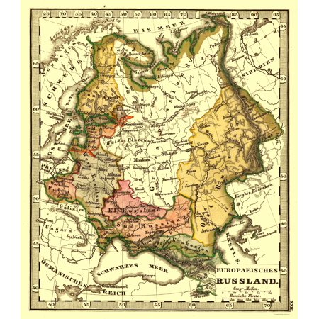 International Map European Russia 23 X 26 46 Walmart Com