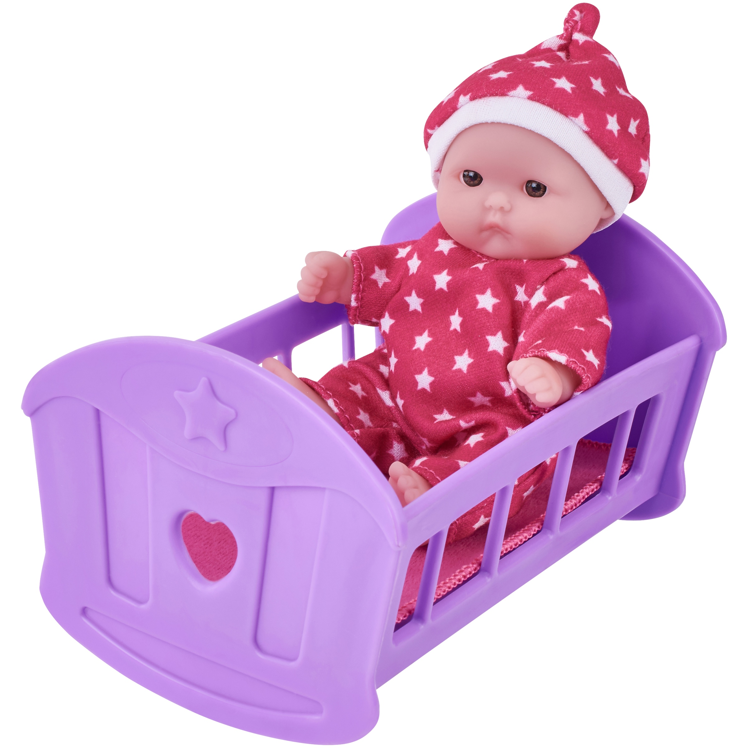 "My Sweet Love Lots to Love 5"" Baby Doll with Outfit and Mini Crib"
