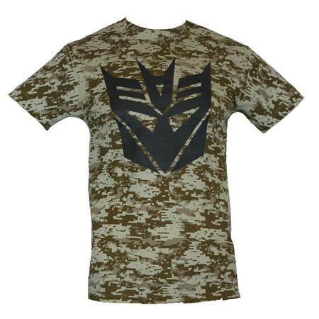 Mens T-Shirt - Decepiticon Logo on Digital Desert Camo