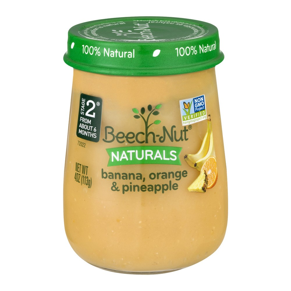 10 Jars Beech Nut Naturals Baby Food Jar Stage 2