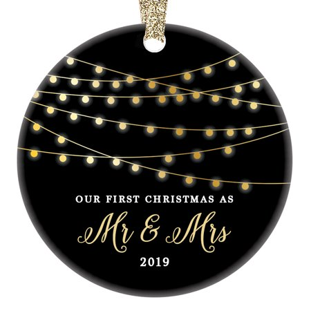 First Christmas as Mr & Mrs Ornament 2019, 1st Married Christmas Ornament, First Married Christmas, 3