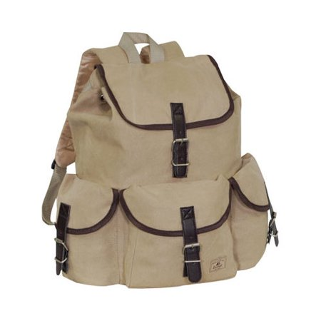 Everest Canvas Rucksack Khaki OSFA