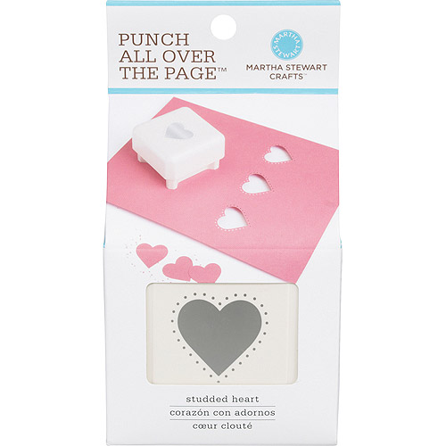 Martha Stewart Punch-All-Over-The-Page Punch, Studded Heart
