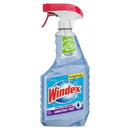 Windex Ammonia-Free Glass Cleaner Trigger Bottle, Crystal Rain, 32 fl oz ()