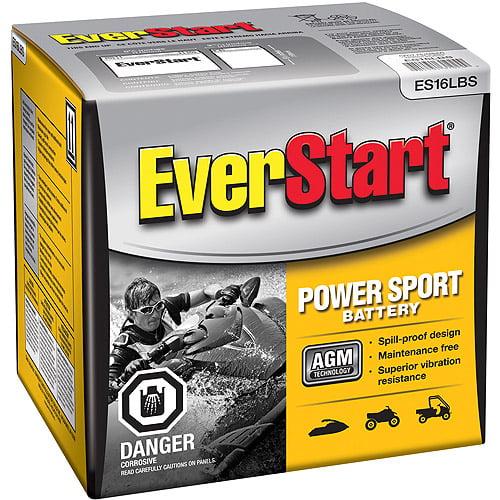 EverStart PowerSport Battery, Group Size ES16LBS