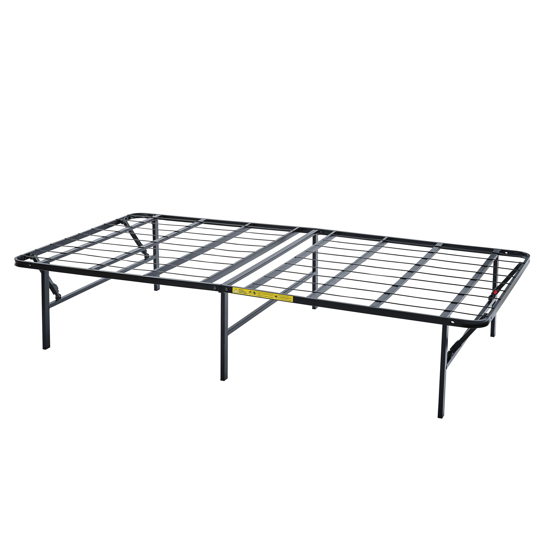 Mainstays 14 High Profile Foldable Steel Bed Frame Powder Coated Steel Twin Walmart Com Walmart Com