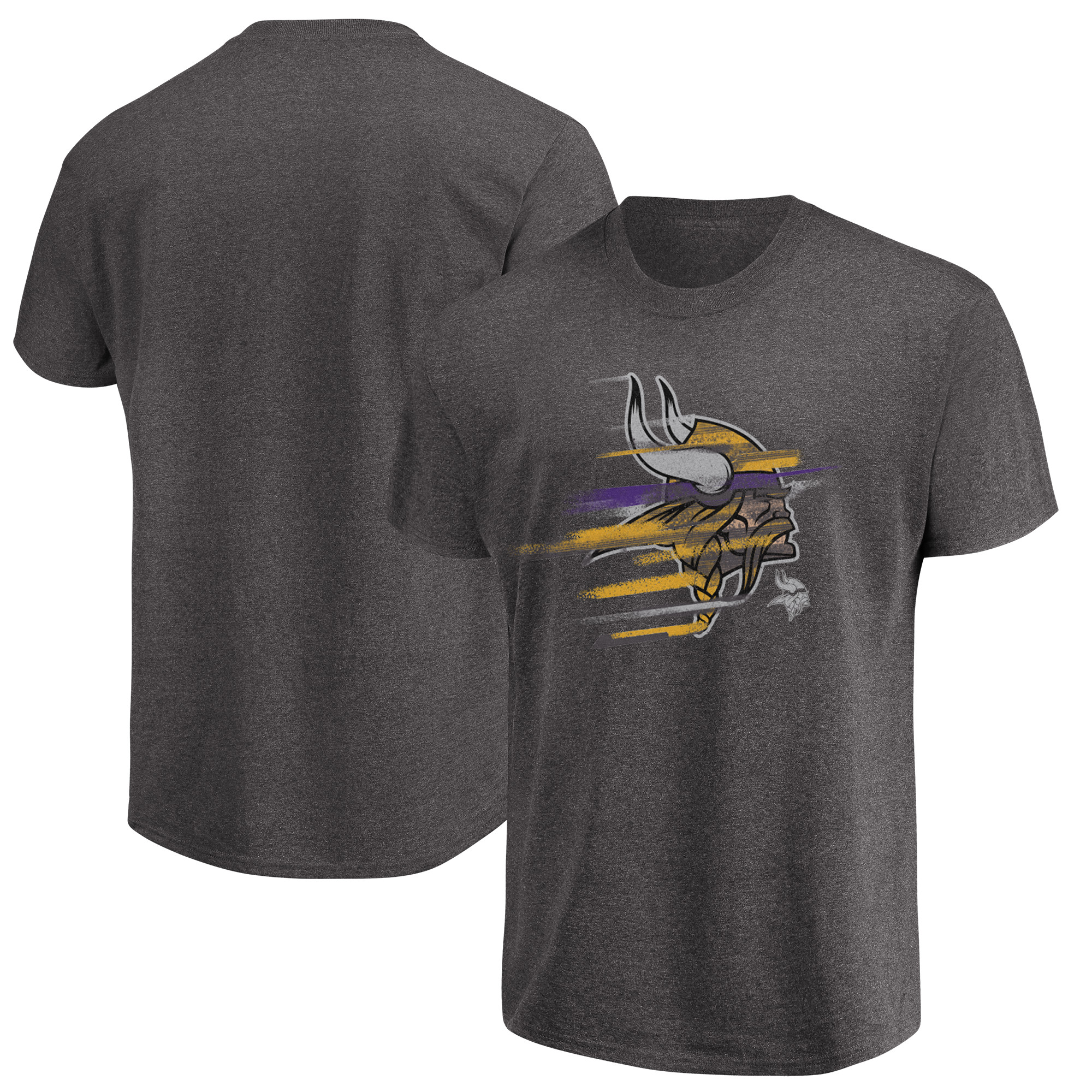 Minnesota Vikings Majestic Fierce Intensity T-Shirt - Heathered Charcoal
