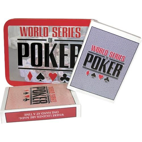 Electronic WSOP Premium Cards Collector's Tin, Features casino style felt playing surface By Excalibur by