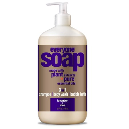 (2 pack) EO Everyone Lavender & Aloe 3-in-1 Body Wash Bubble Bath Shampoo 32