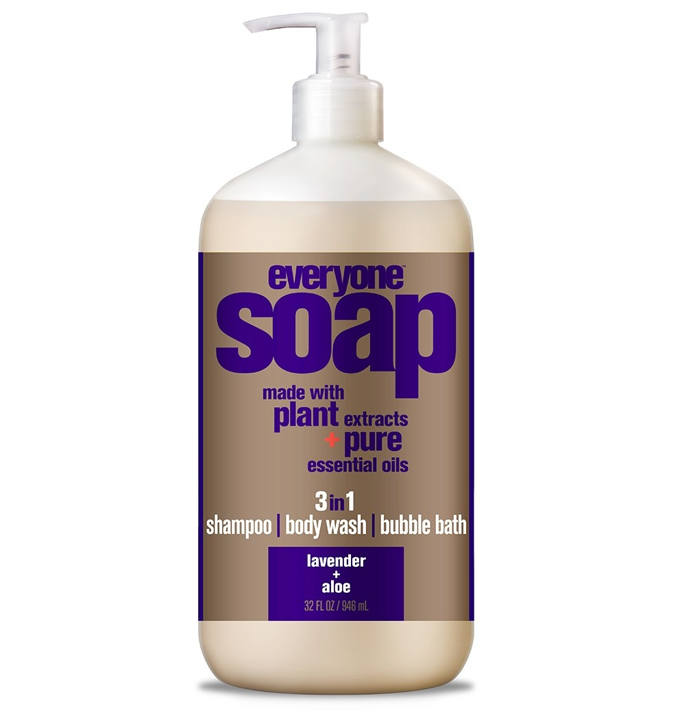 EO Everyone Lavender & Aloe, 3-in-1 Body Wash, Bubble Bath, Shampoo, 32 Oz.