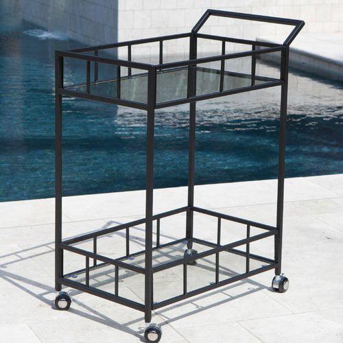 Ebern Designs Marra Outdoor Bar Serving Cart by