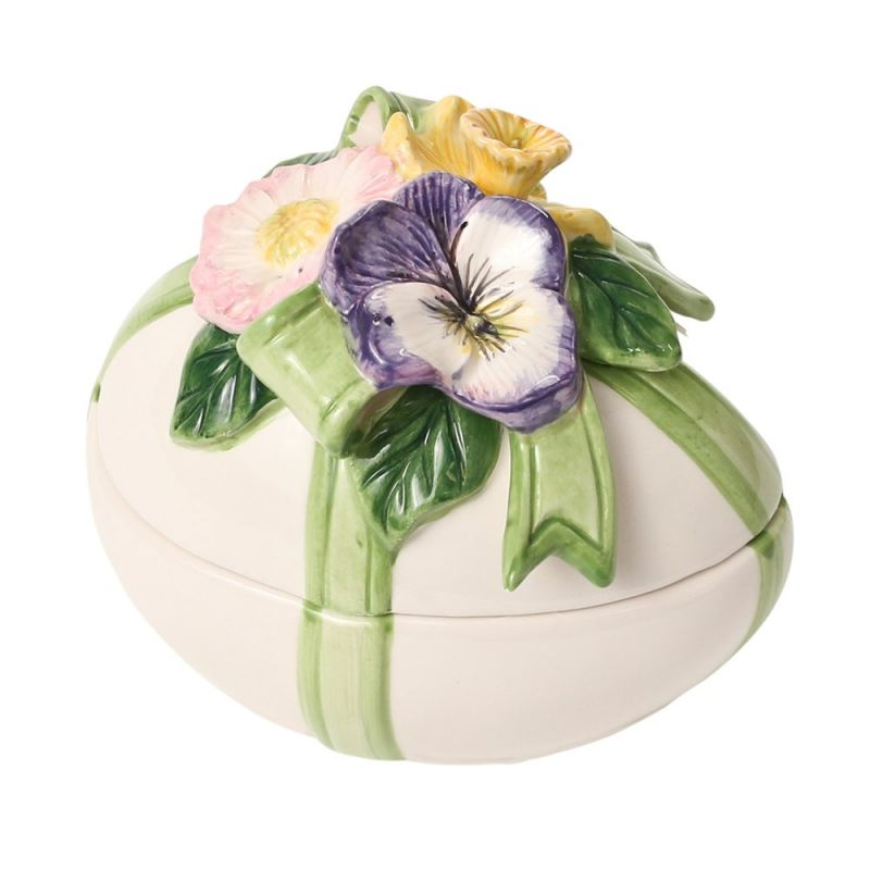 Kaldun & Bogle Spring Bunny Bows Egg Covered Box