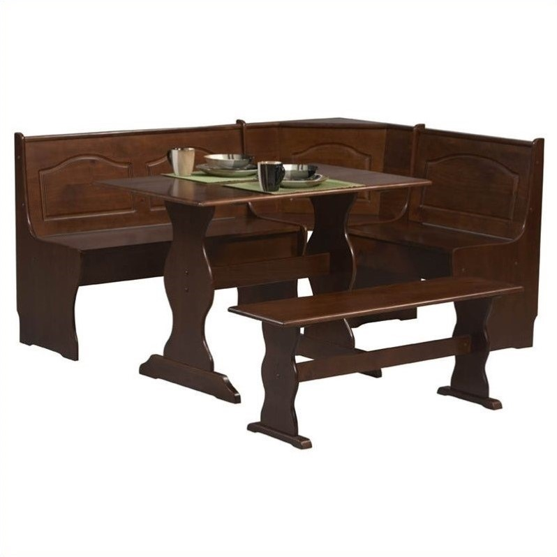 Riverbay Furniture 3 Piece Patio, Booth Dining Room Table