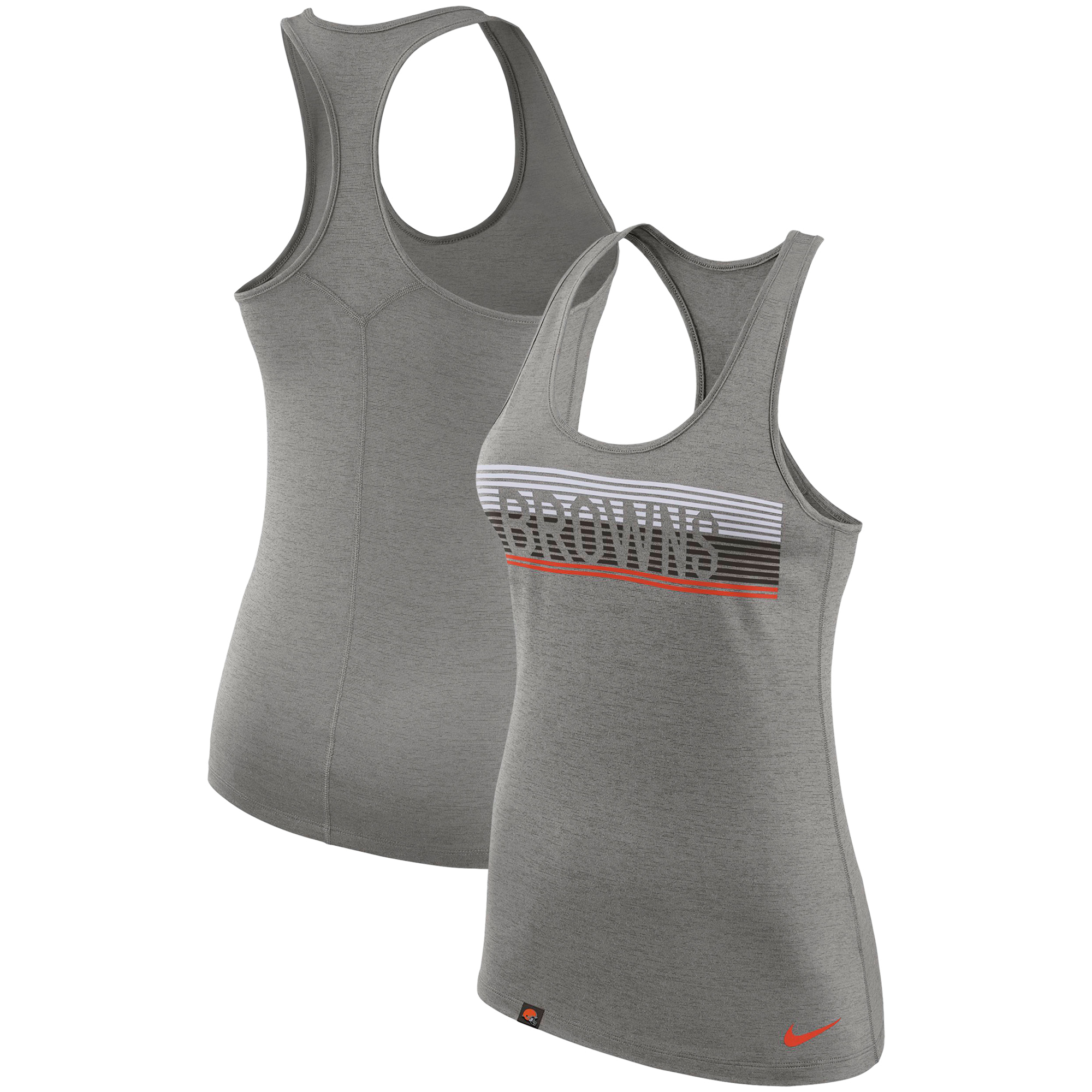 Cleveland Browns Nike Women's Touch Performance Tank Top - Heathered Charcoal