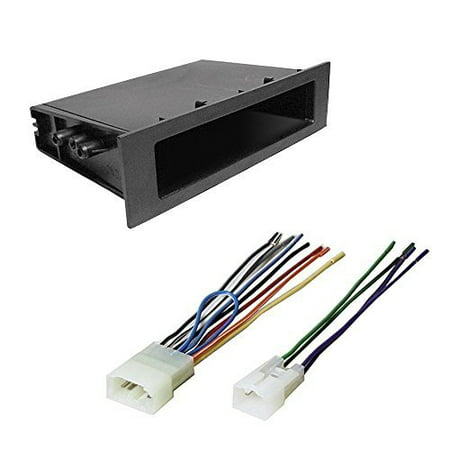 toyota 1989 - 2004 4 runner car cd stereo receiver dash install mounting kit + wire harness