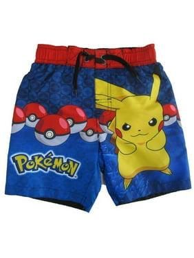 35600690fb Product Image Pokemon Little Boys Royal Blue Swim Shorts