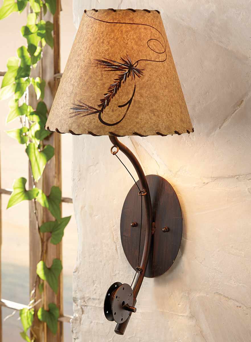 Fly Rod Cabin Wall Lamp Wilderness Lighting Fixtures by Coast Lamp Manufacturer