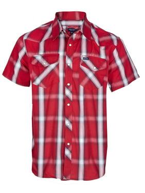 Men's Cotton Short Sleeve Western Work Shirt