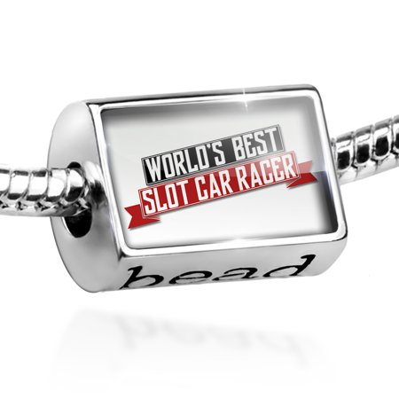 Bead Worlds Best Slot Car Racer Charm Fits All European