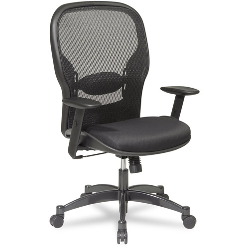 Office Star Space Seating Professional Breathable Mesh Back Office Chair with Mesh Fabric Seat, Black