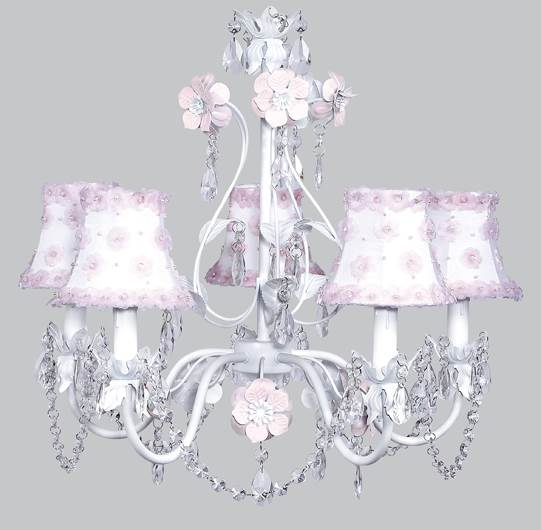 5-Arm Chandelier with Petal Flower