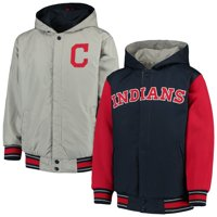 Cleveland Indians JH Design Youth Hooded Jacket - Navy