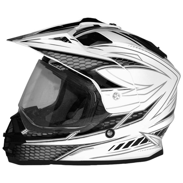 Cyber UX-32 Graphic Helmet White/Black