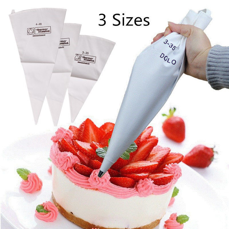 Micelec Reusable Cotton Fondant Cake Decorating Icing Piping Pastry Bag Baking Tools