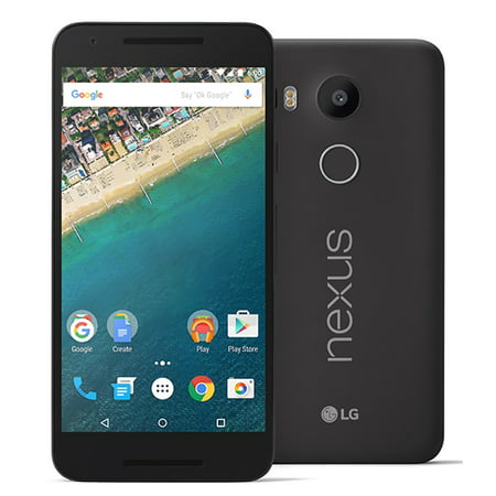 LG Google Nexus 5X H790 32GB Unlocked GSM & CDMA 4G LTE Android Phone w/ 12.3MP Camera - Carbon (Refurbished) ()