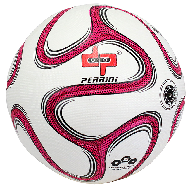 High Quality Pro Perrini Indoor Outdoor Sports Brazuca Pink Soccer Ball Size 5