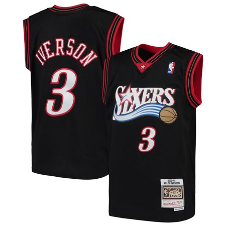 Allen Iverson Philadelphia 76ers Mitchell & Ness Youth Hardwood Classics Swingman Throwback Jersey -