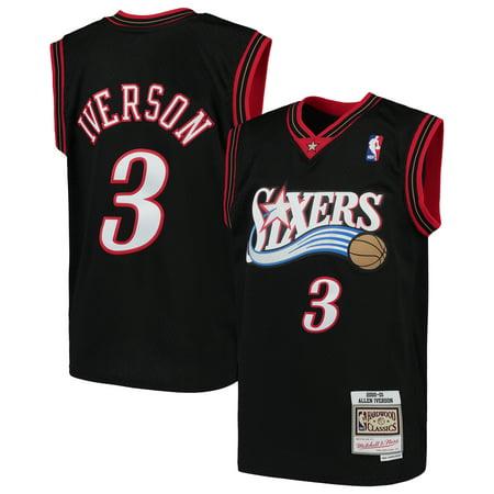 Allen Iverson Philadelphia 76ers Mitchell & Ness Youth Hardwood Classics Swingman Throwback Jersey - Royal