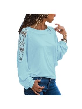 363d41282f3 Product Image Women Fashion Round Neck T-shirt Casual Long Sleeve Tops  Ladies Fashion Loose Shirts Pure