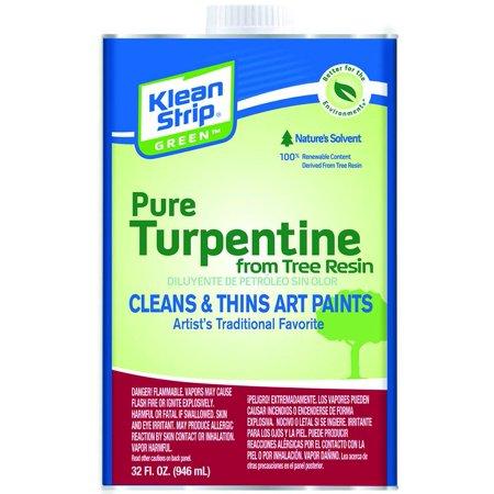 TURPENTINE PURE GREEN QUART (Pure Gum Spirits Of Turpentine For Candida)