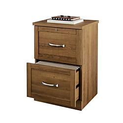 "Realspace® Premium 17""D 2-Drawer Vertical File Cabinet, Golden Oak"