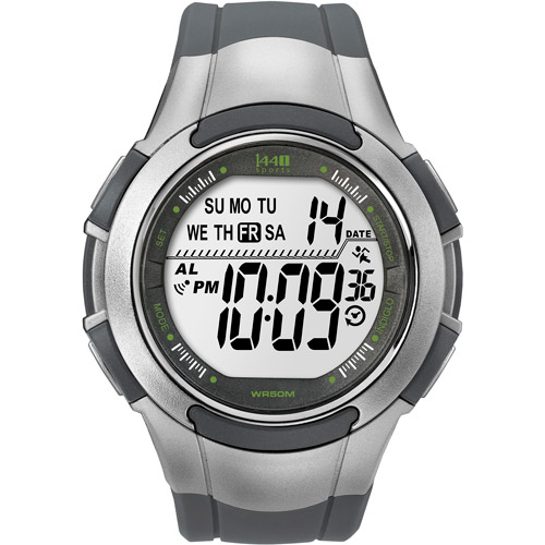 Timex Men's 1440 Sports Watch, Grey Resin Strap