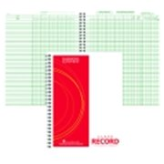 Hammond And Stephens 8.5 x 11 in. Wire-O Bound Class Record Book, Polyice Cover, White And Green
