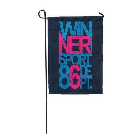 LADDKE Emblem Sport Winner Graphics York Apparels Athletic Badge Best Black Boy Garden Flag Decorative Flag House Banner 12x18 inch ()